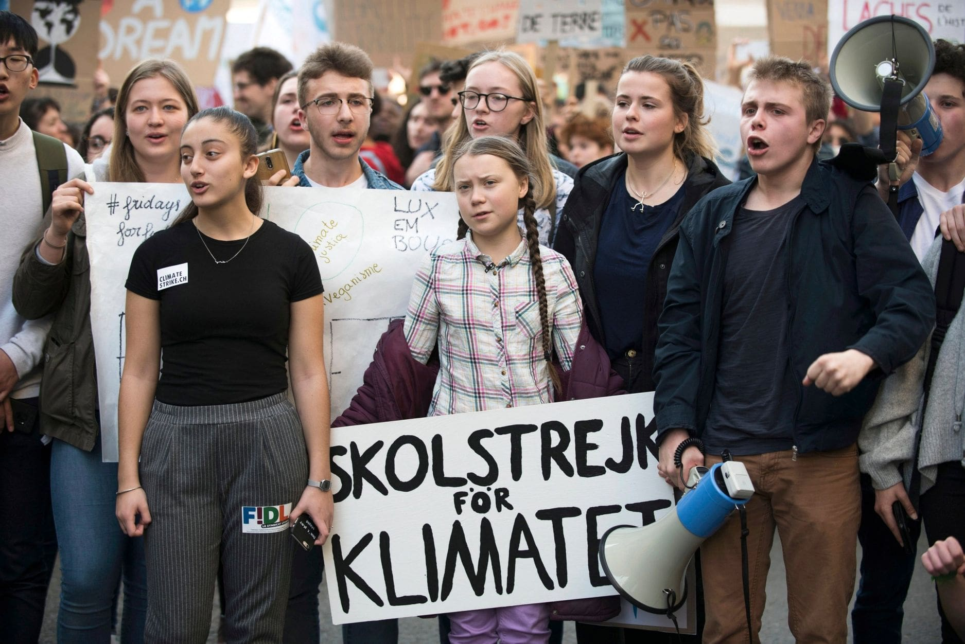 promote list climate strike