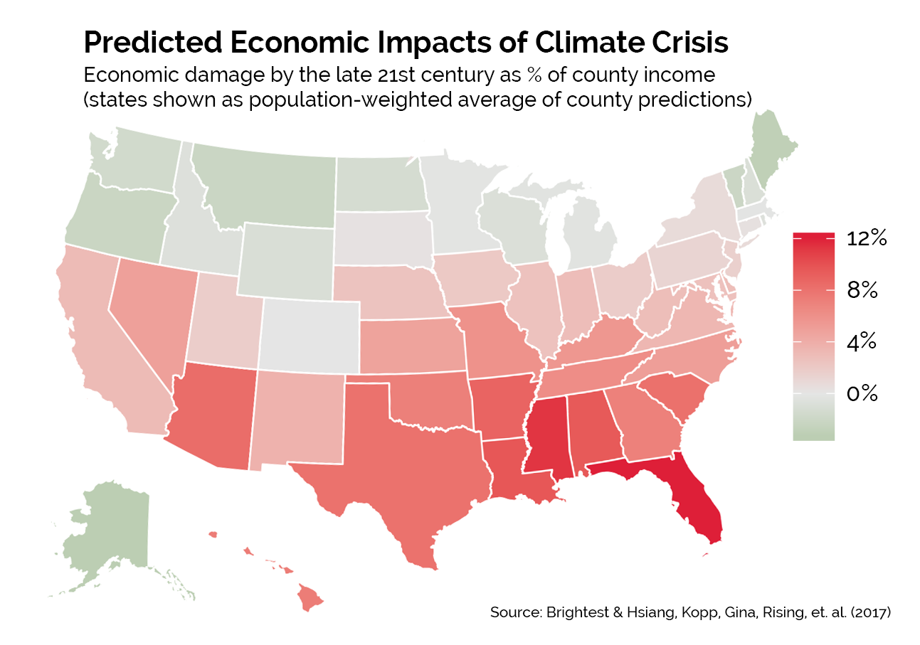 climate change state damage forecast